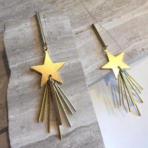 JPeace Designs Jewelry - Shooting Star Long brass post Earrings